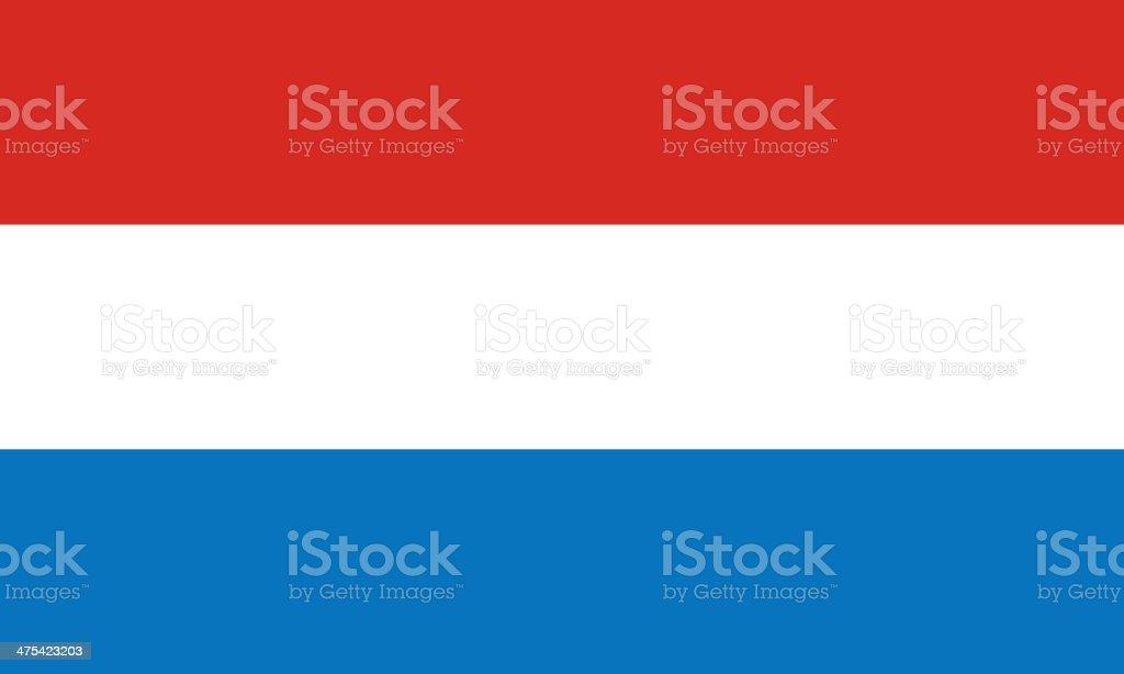 Luxembourg Flag vector art illustration
