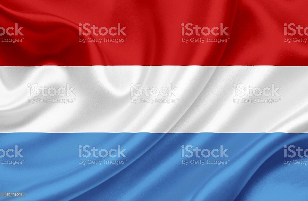 Luxembourg waving flag vector art illustration