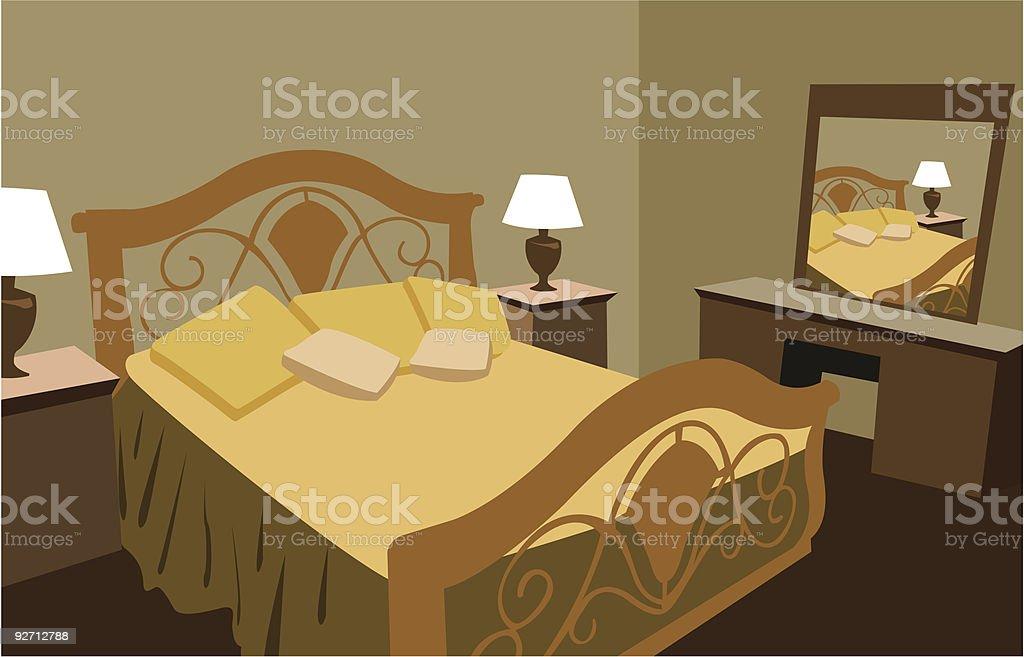 luxurious bedroom vector royalty-free stock vector art