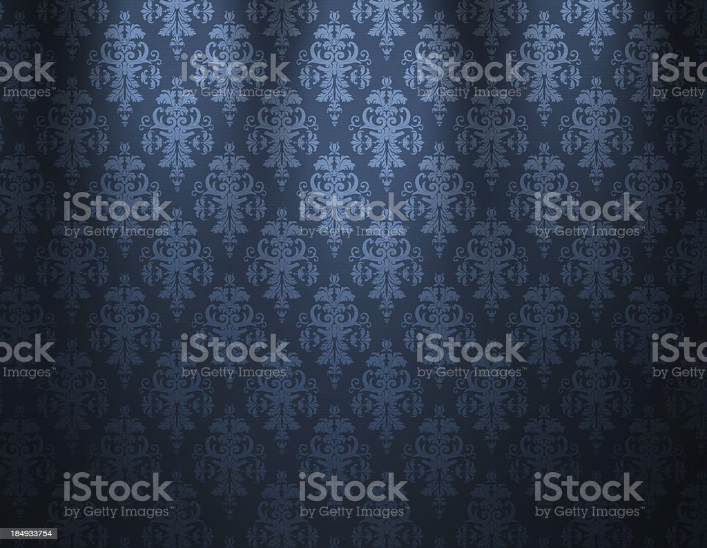 Luxurious Blue Wallpaper royalty-free stock vector art