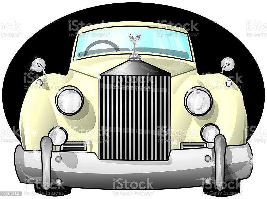 Luxury car vector art illustration