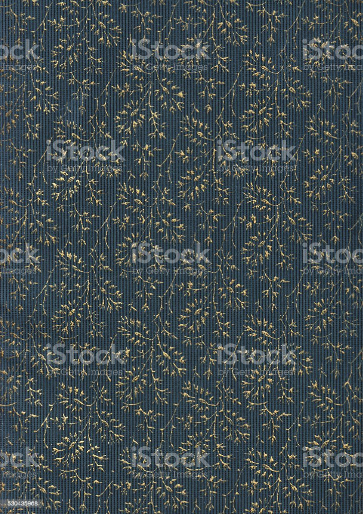 Luxury gold leaf pattern paper background vector art illustration