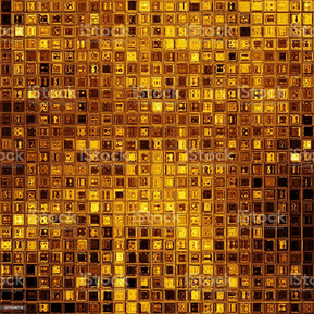 Luxury golden mosaic vector art illustration