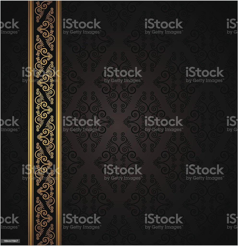 Luxury seamless black background. Vector royalty-free stock vector art