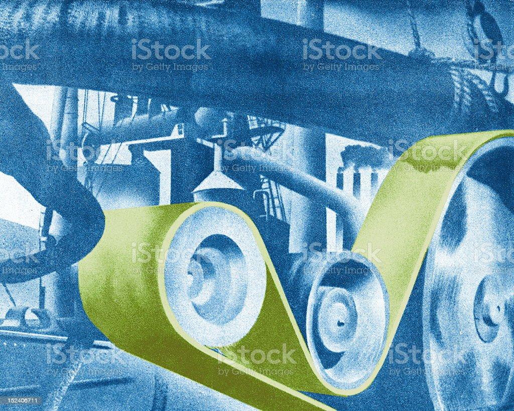Machinery royalty-free stock vector art