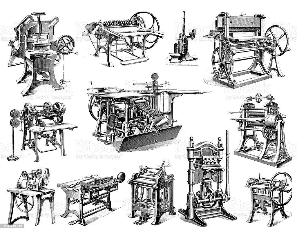 Machines vector art illustration