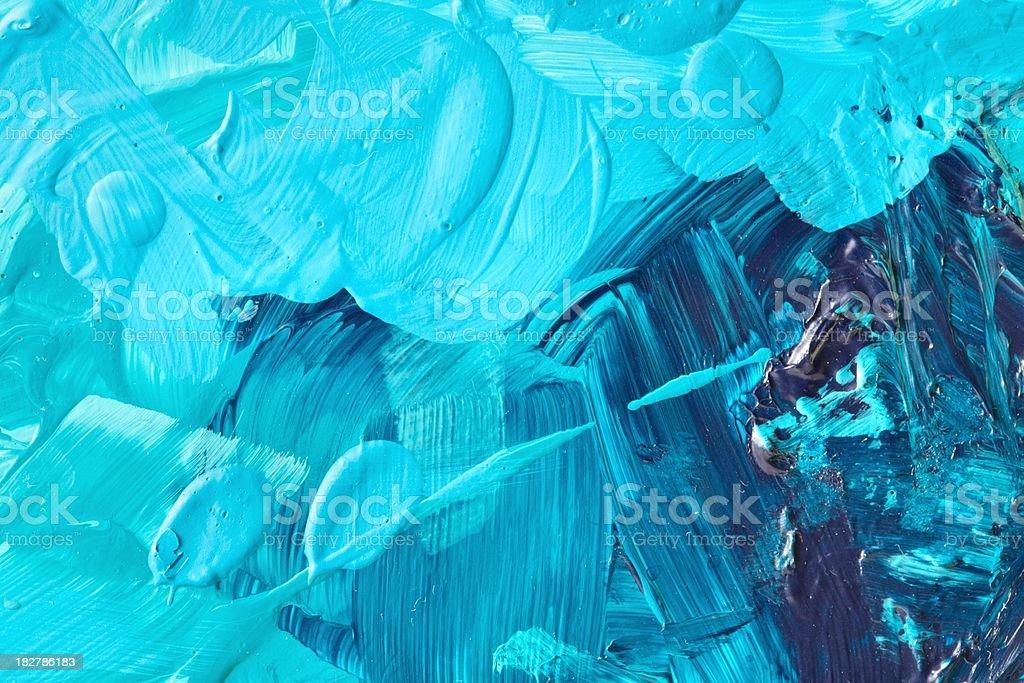 macro de pintura azul turquesa gama libre de derechos libre de derechos