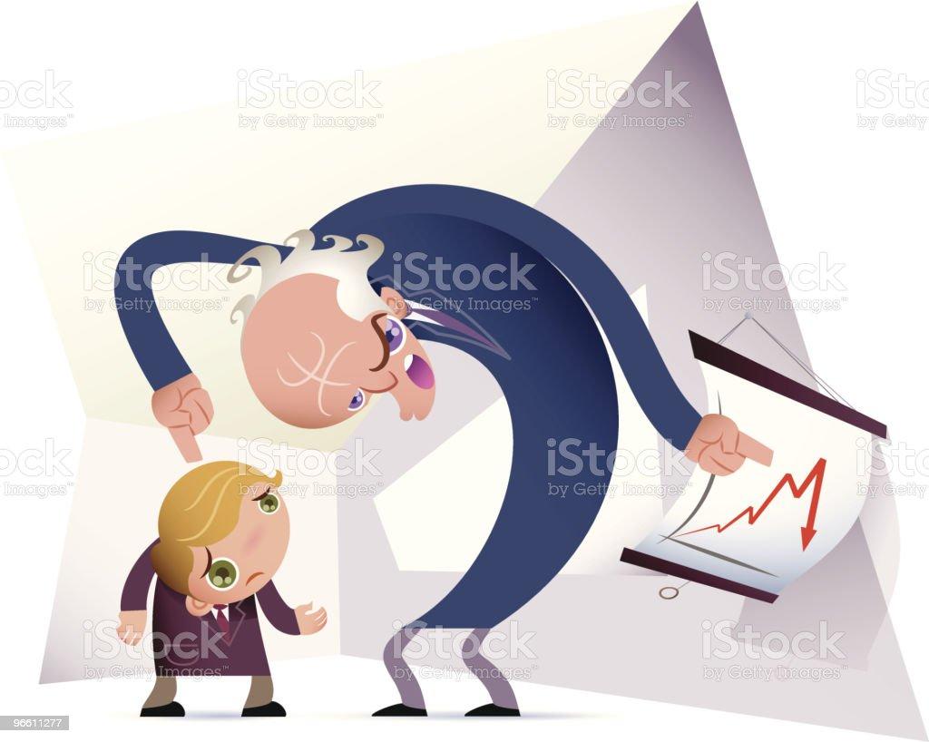 mad boss vector art illustration