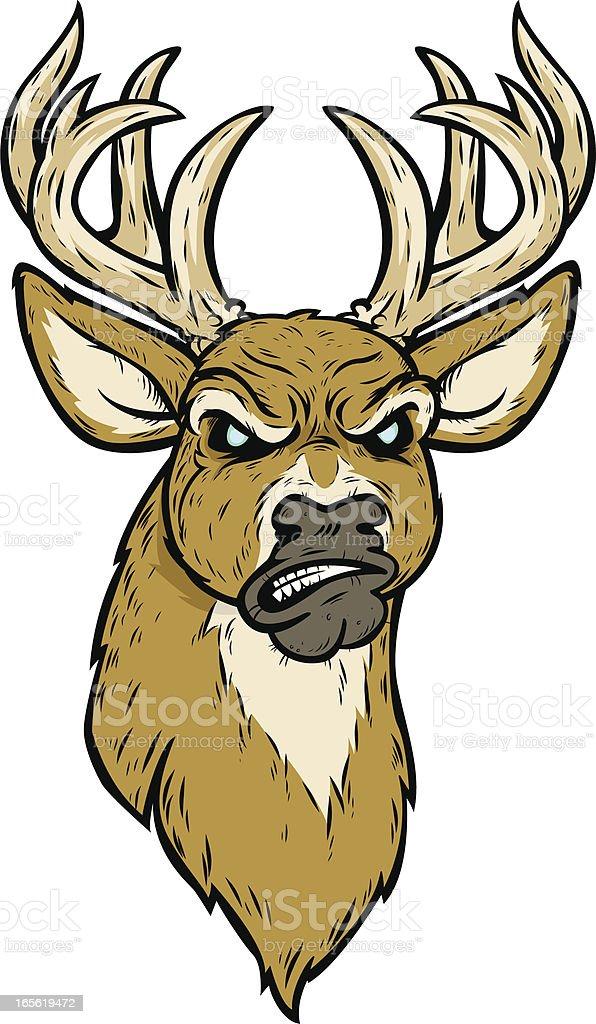 mad deer vector art illustration