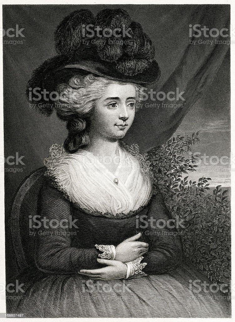 Madame D'Arblay royalty-free stock vector art