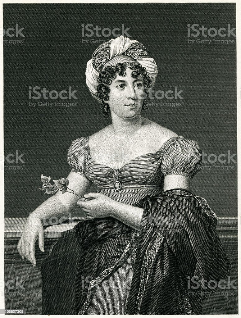 Madame De Stael royalty-free stock vector art