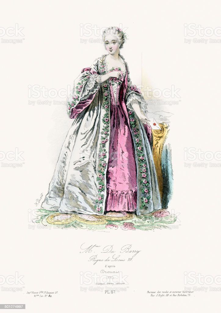 Madame du Barry royalty-free stock vector art