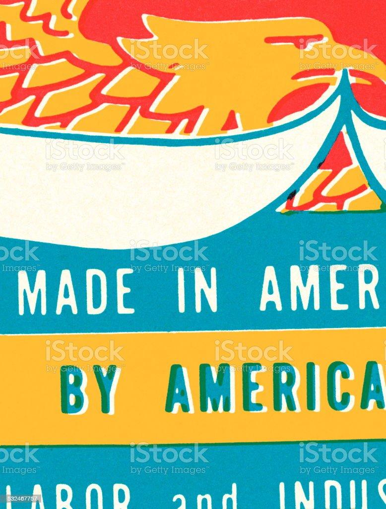 Made in America vector art illustration