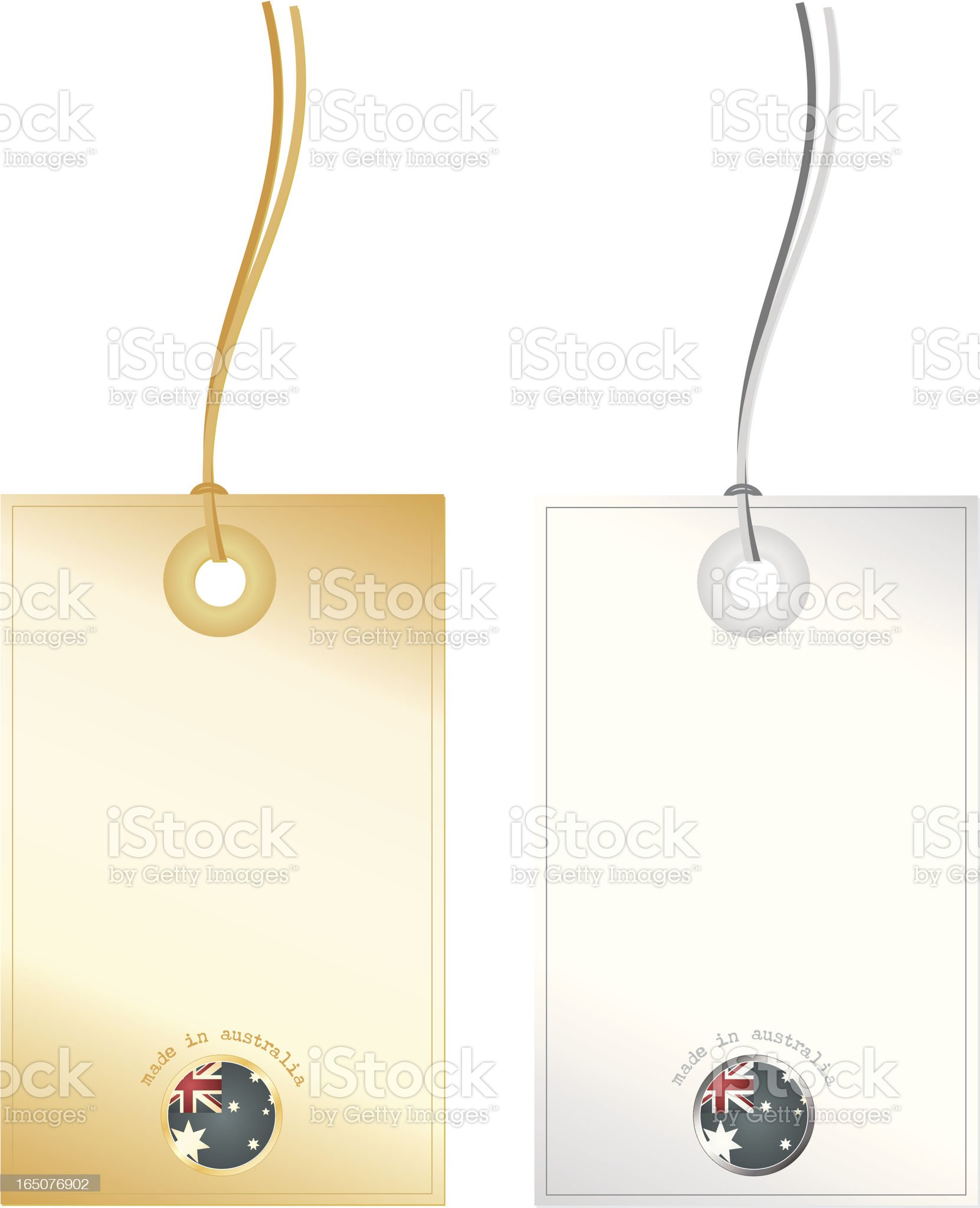 Made in Australia Tags royalty-free stock vector art