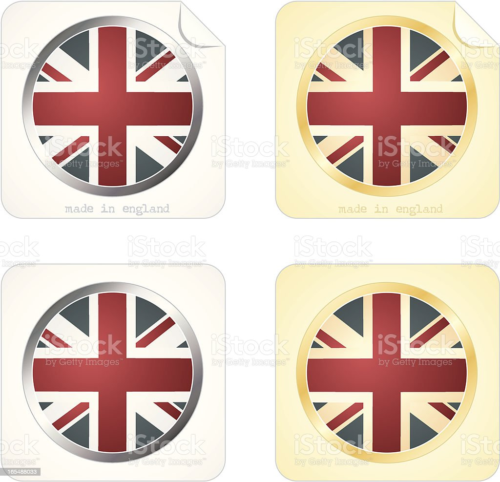Made in England Stickers royalty-free stock vector art