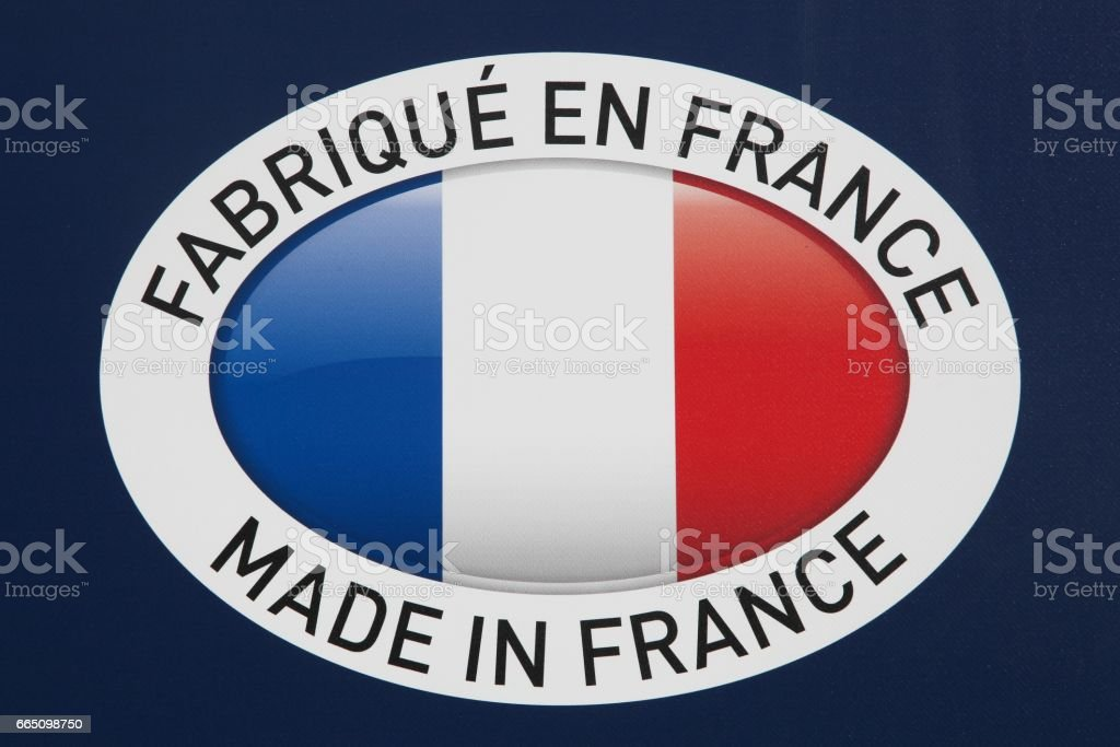 Made in France sign stock photo