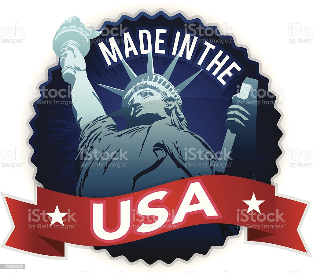 Made in the USA royalty-free stock vector art
