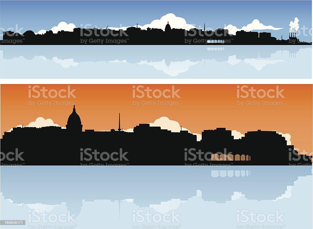 Madison, Wisconsin Skyline royalty-free stock vector art