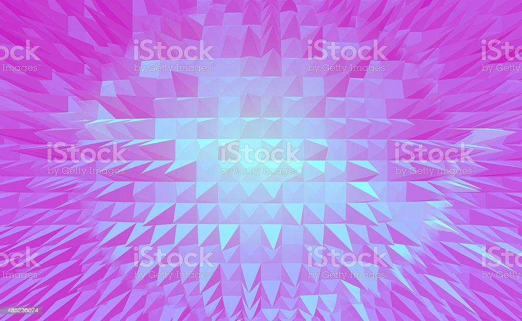 Purpurowy Piramida digital tło abstrakcyjne stockowa ilustracja wektorowa royalty-free