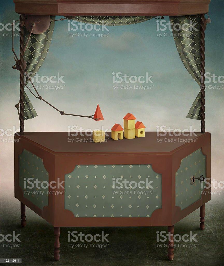Magic Box royalty-free stock vector art