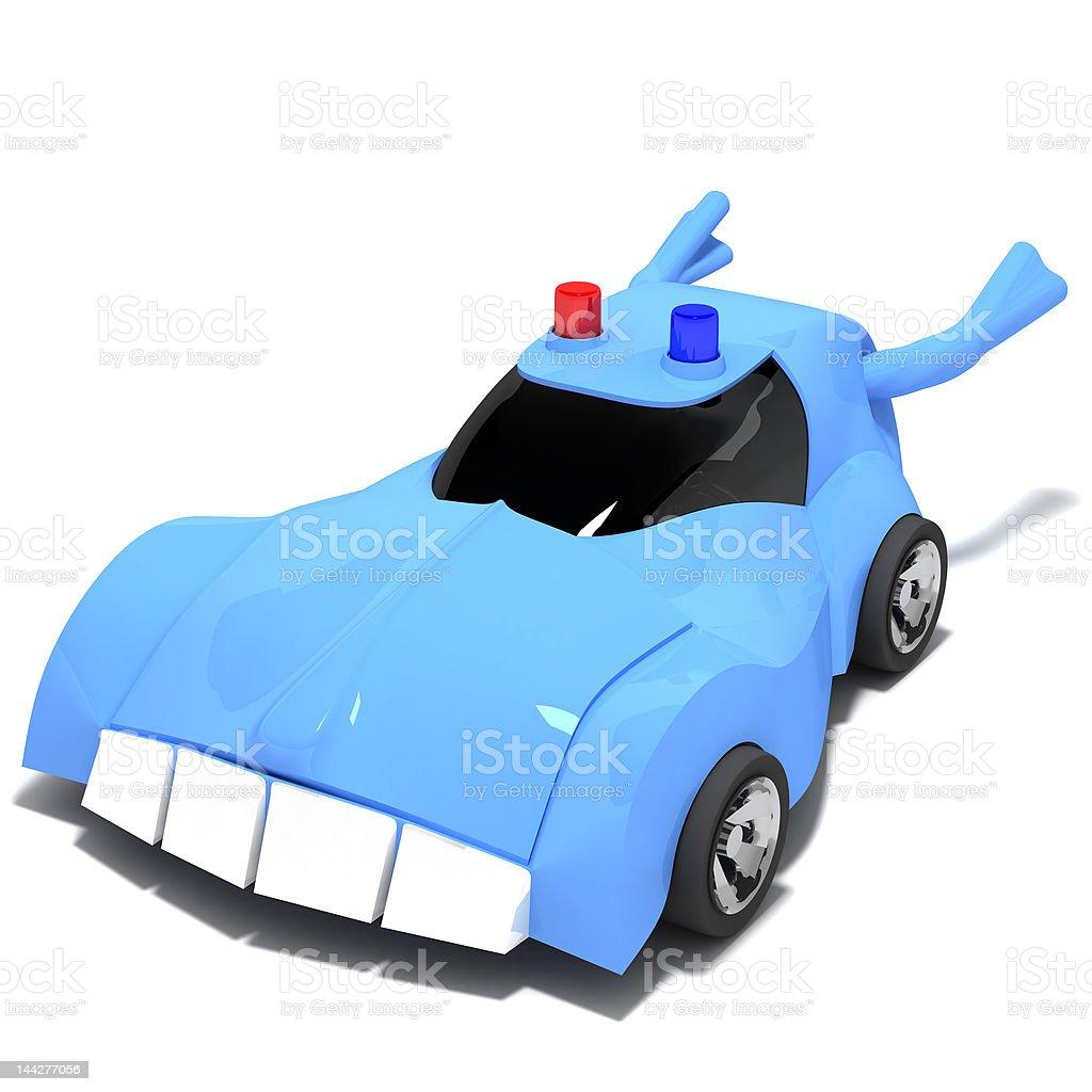 Magic Police vector art illustration