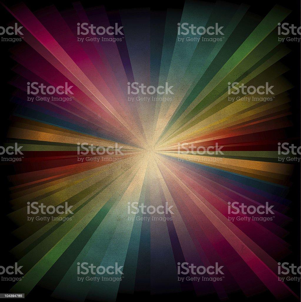 Magic radial Rainbow Light royalty-free stock vector art
