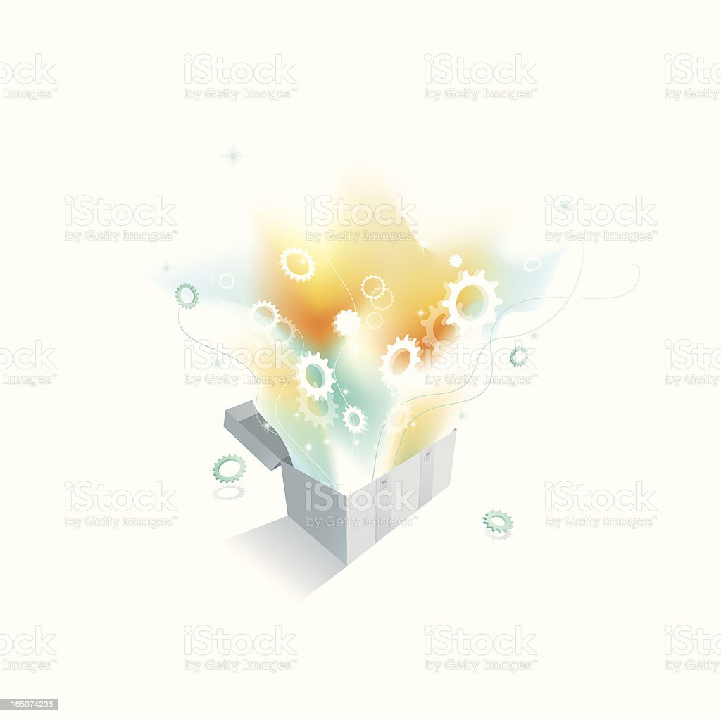 Magical Toolbox royalty-free stock vector art