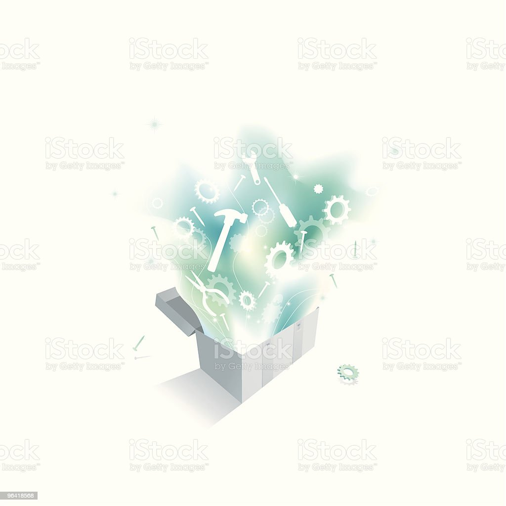 Magical Toolbox vector art illustration