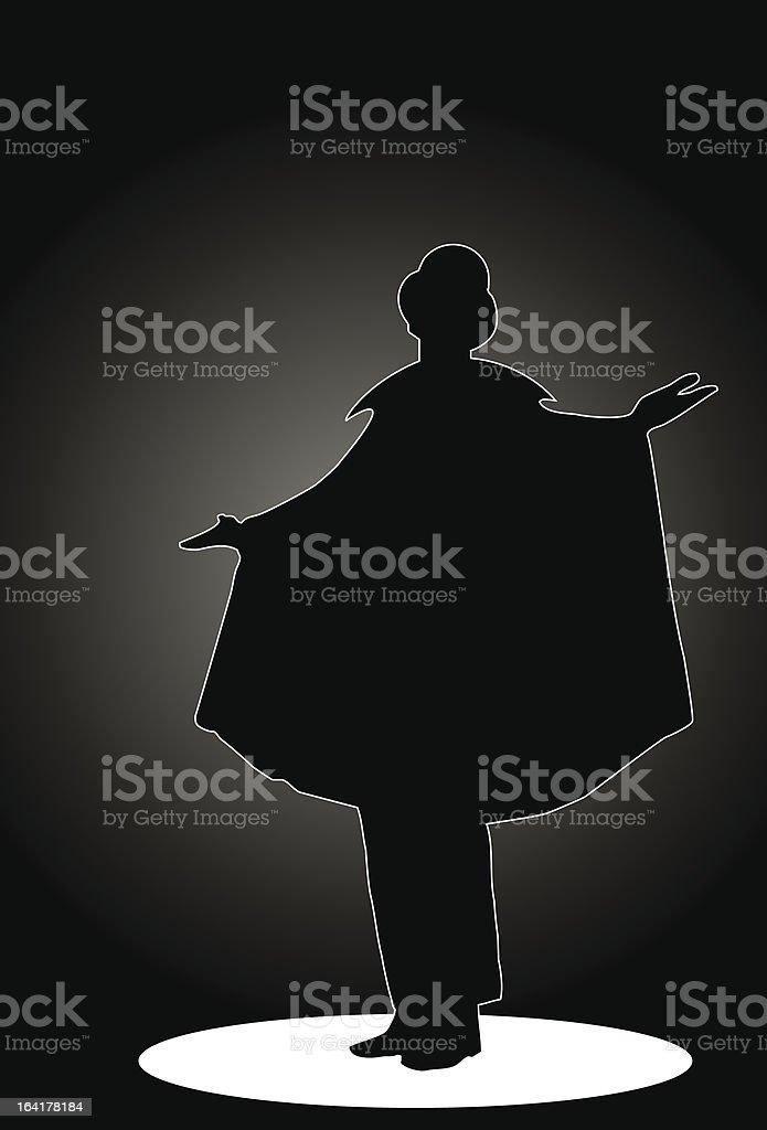 Zauberer auf der Bühne Lizenzfreies vektor illustration