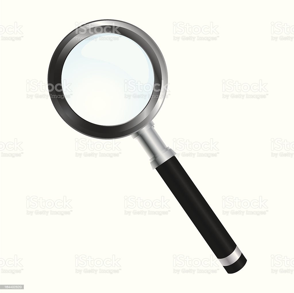 Magnify glass royalty-free stock vector art