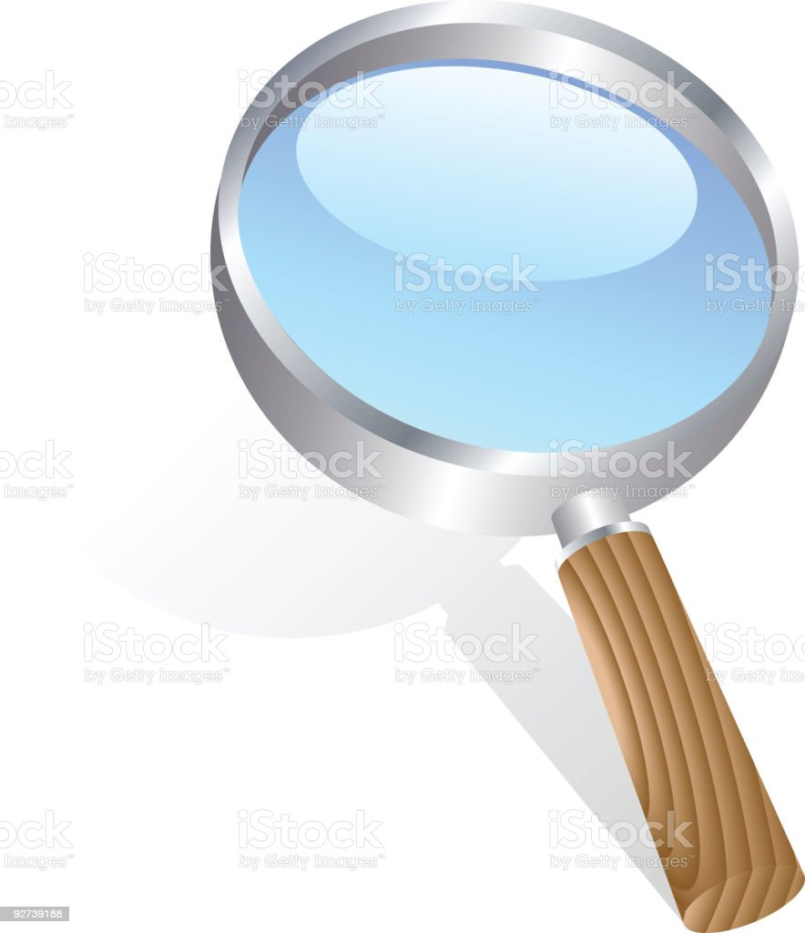 magnifying glass. royalty-free stock vector art