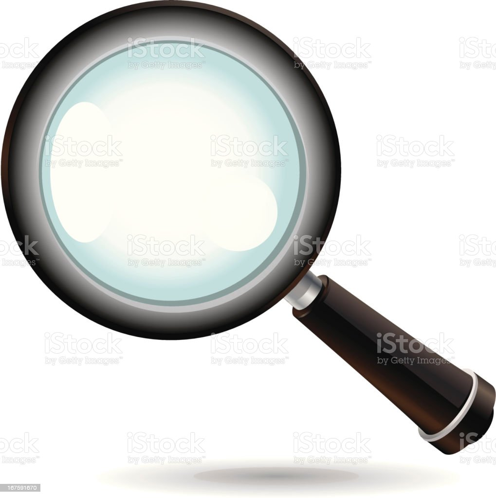 Magnifying Glass Symbol royalty-free stock vector art