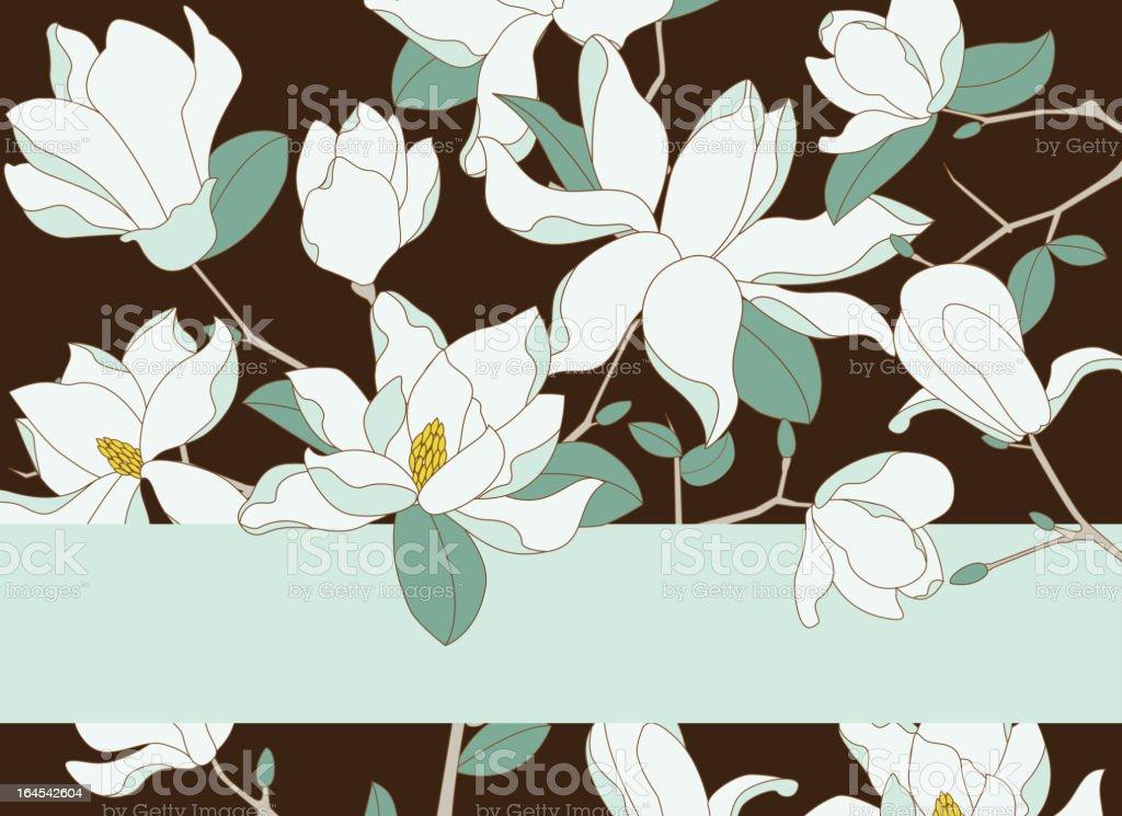 Magnolia Background vector art illustration