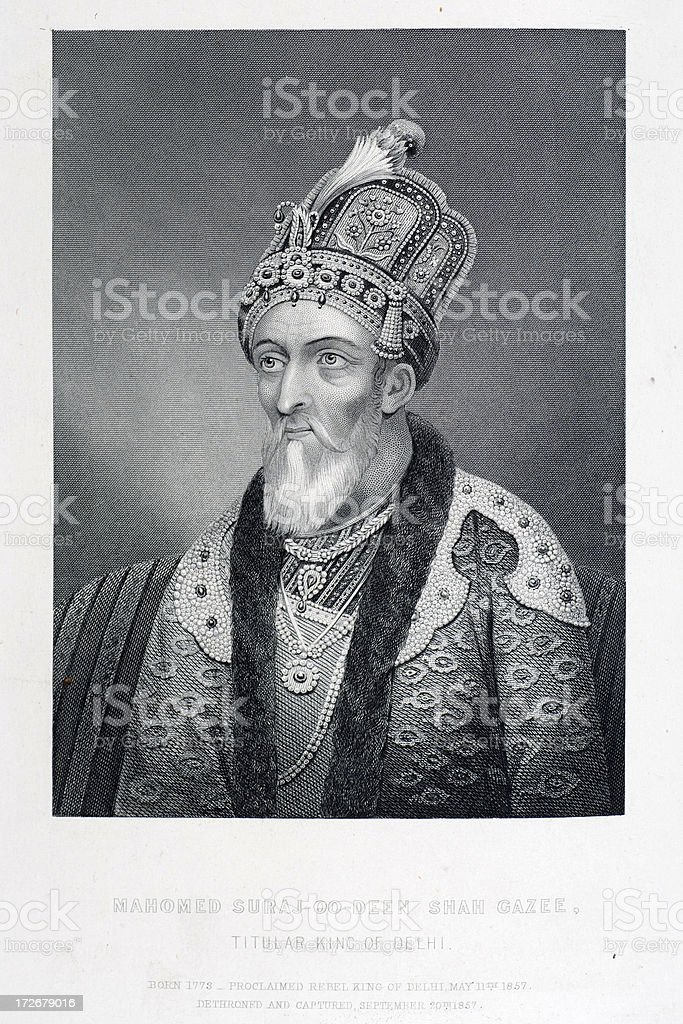 Mahomed Suraj-oo-Deen Shah Gazee royalty-free stock vector art
