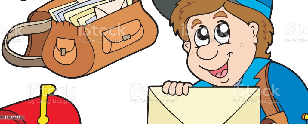 Mail collection royalty-free stock vector art