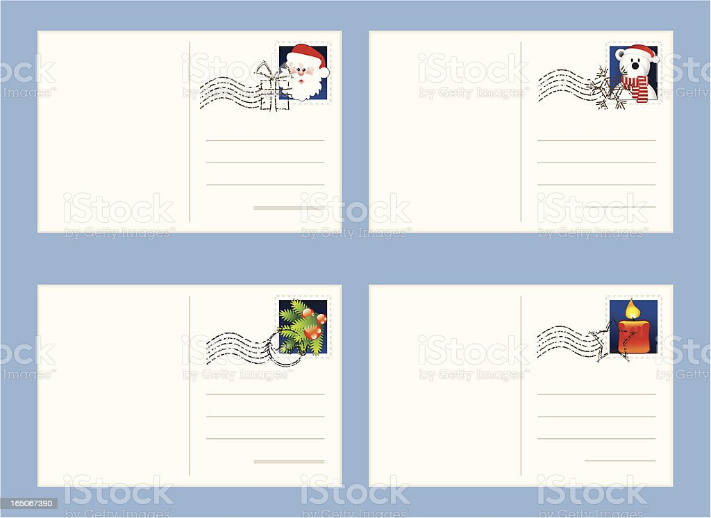 Mail fot Christmas royalty-free stock vector art