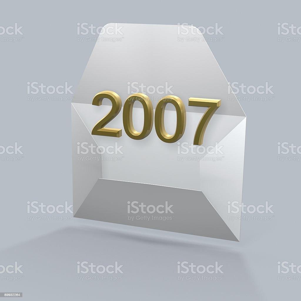 mail golden new year vector art illustration