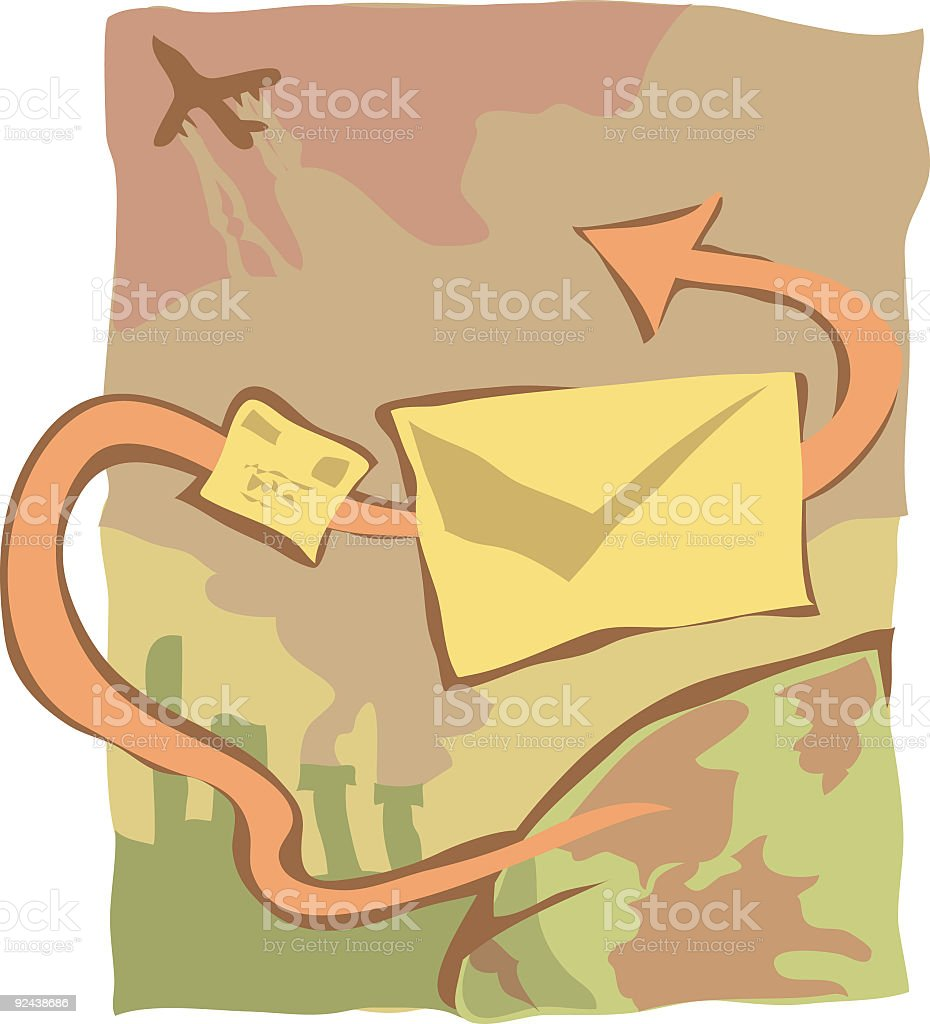Mail vector art illustration