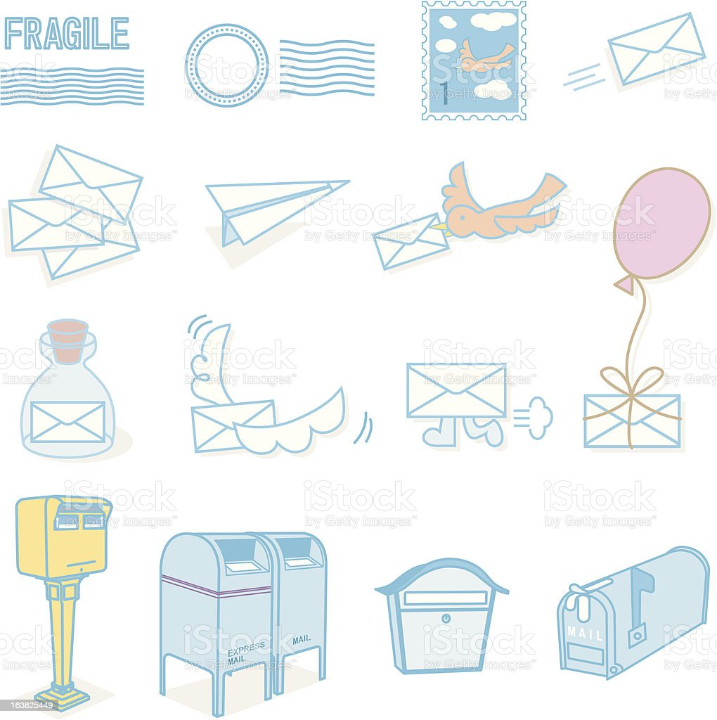 Mail & Post royalty-free stock vector art