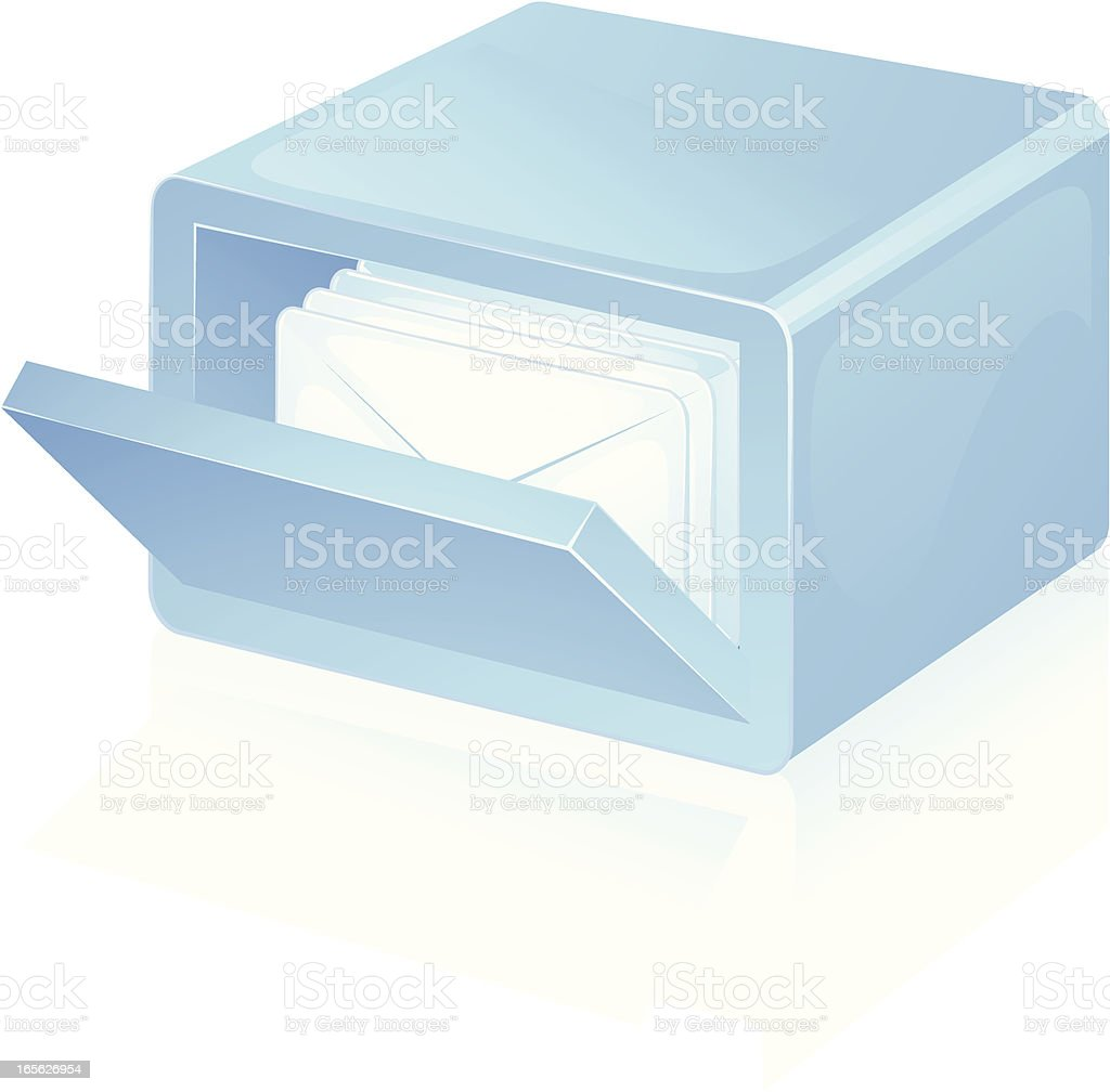 Mail Storage royalty-free stock vector art