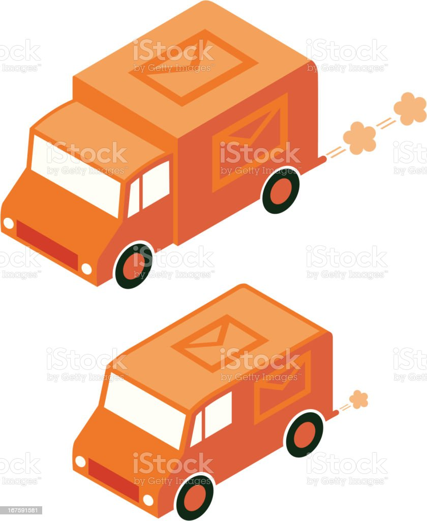 Mail van vector art illustration