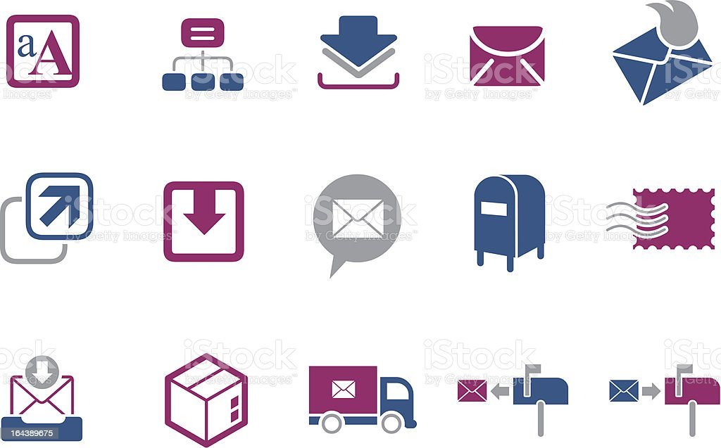 Mailing Icon Set royalty-free stock vector art