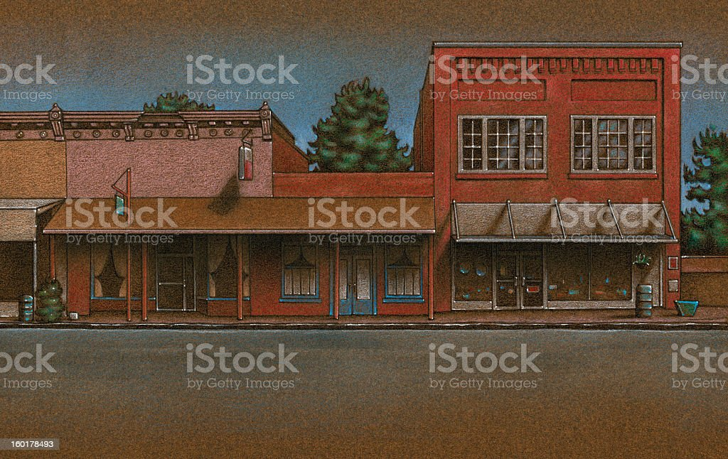 Main Street USA Background vector art illustration
