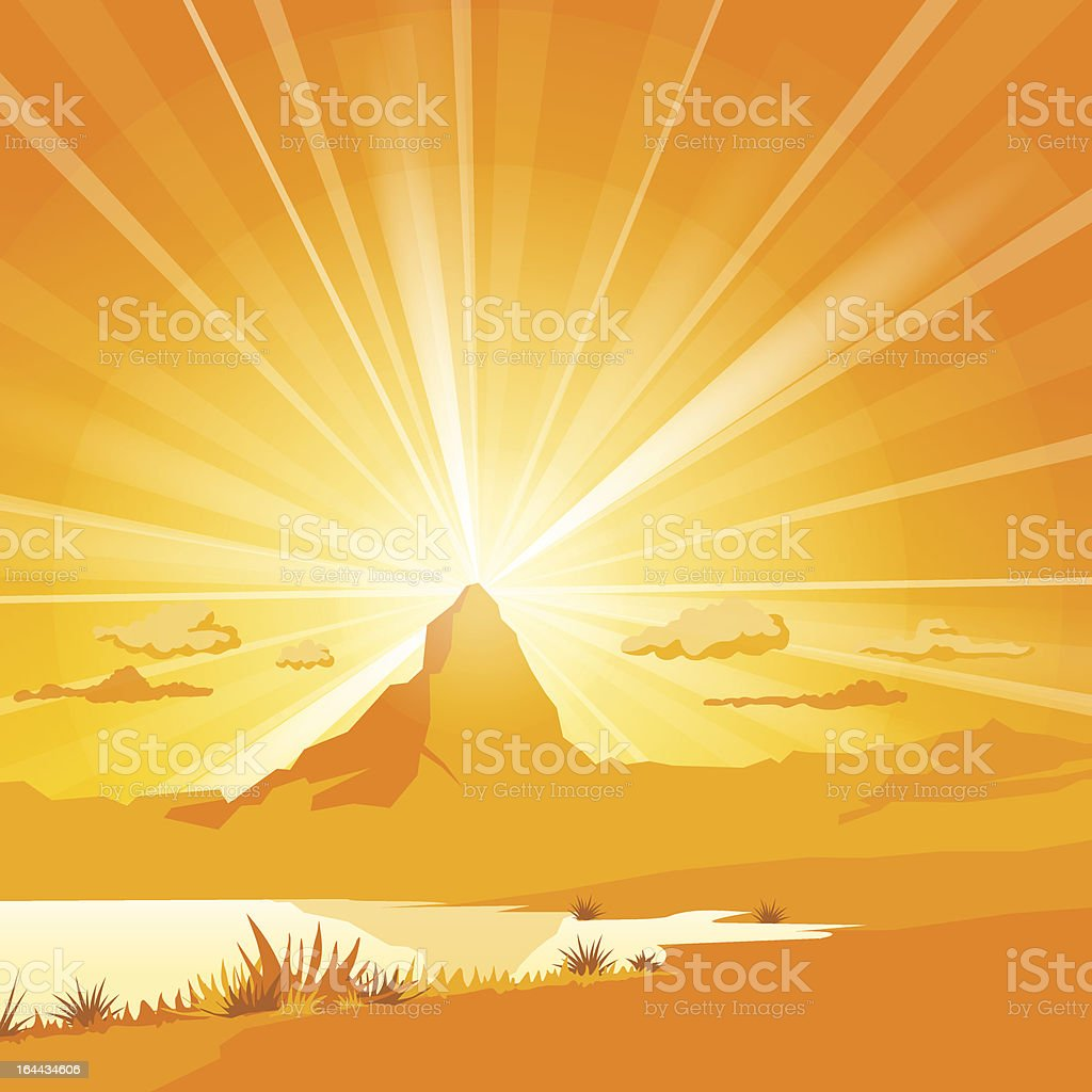 Majestic Mountain with lake royalty-free stock vector art
