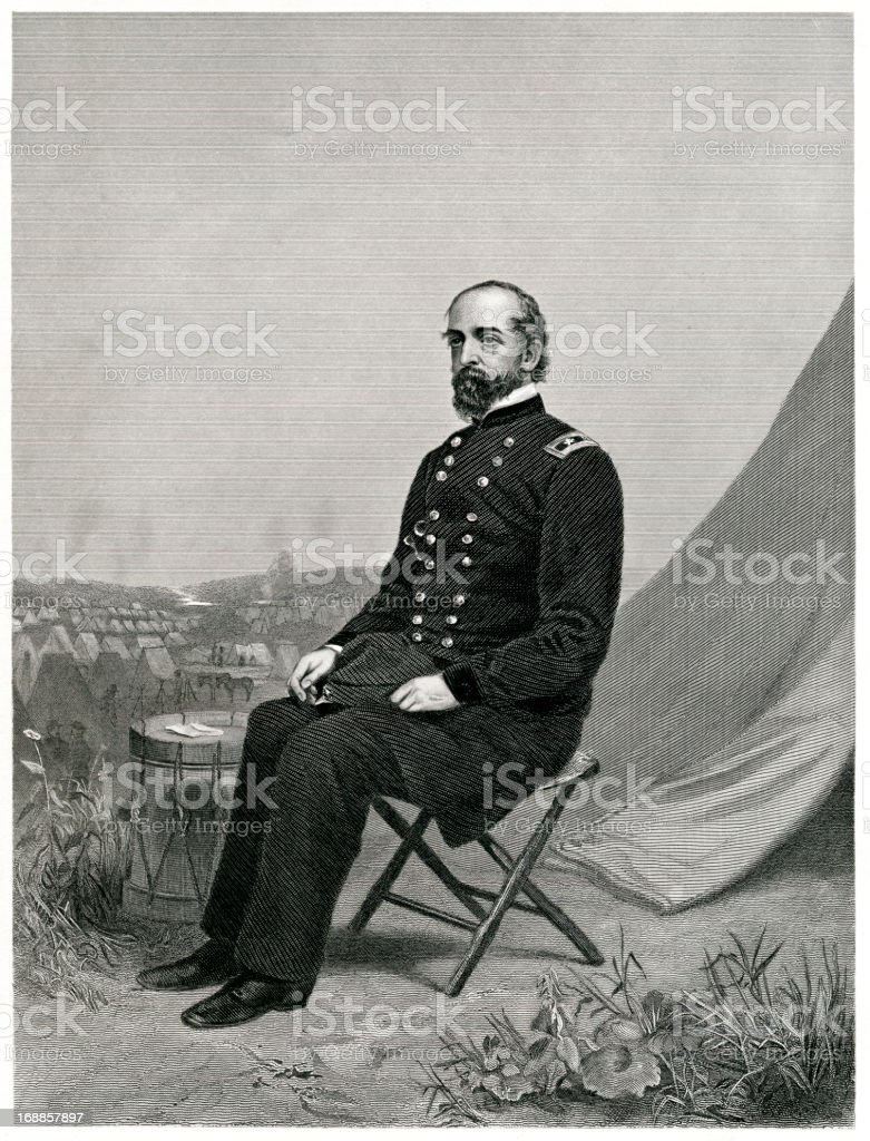 Major General George Gordon Meade vector art illustration