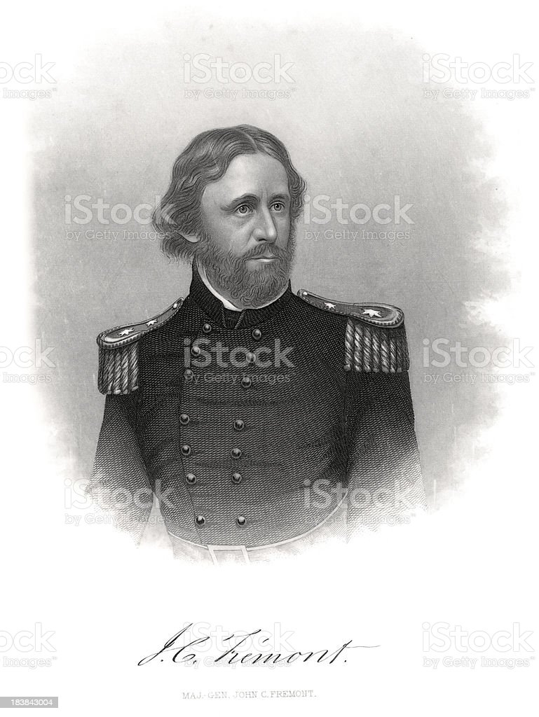 Major General John Charles Frémont vector art illustration