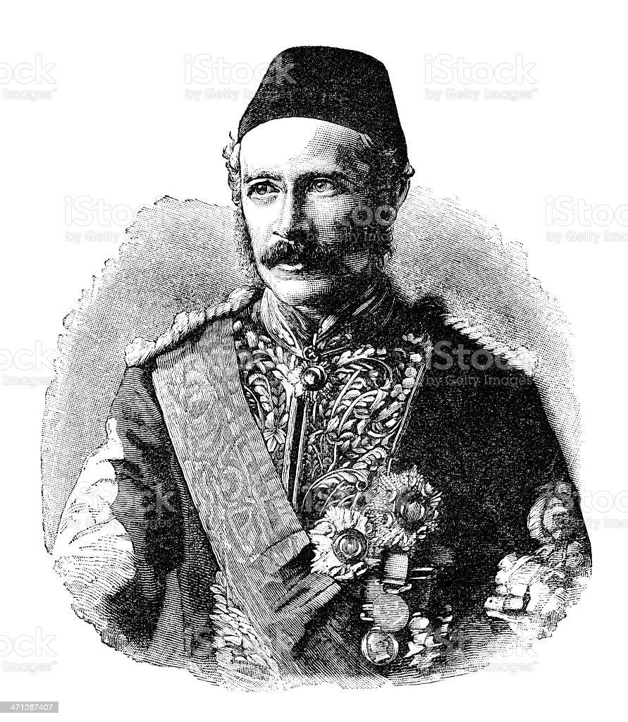 Major-General Charles George Gordon vector art illustration