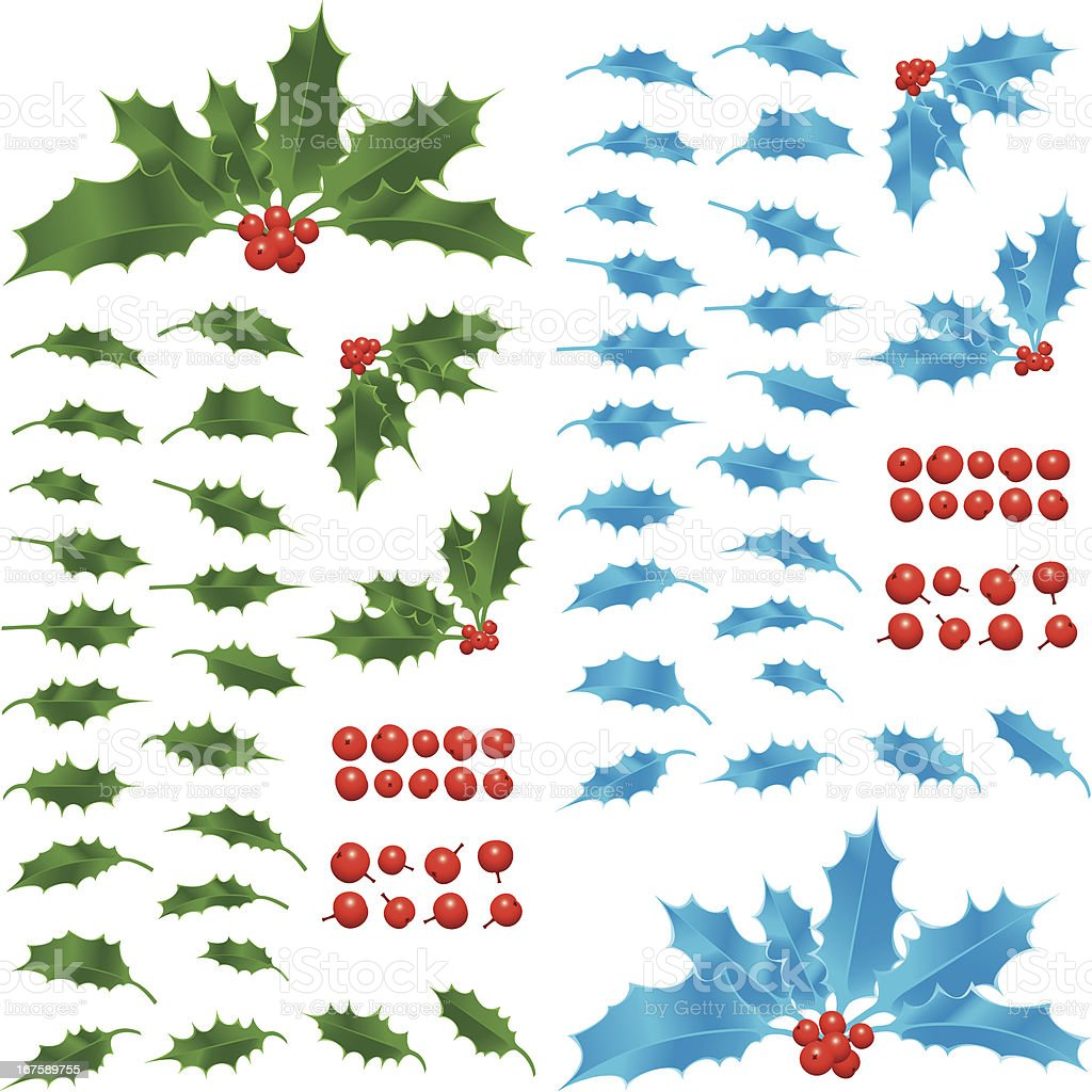 Make your own holly royalty-free stock vector art