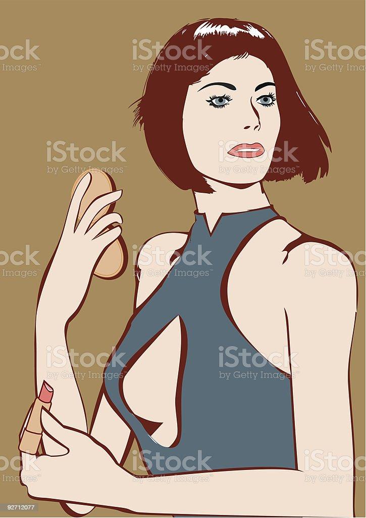 Make-up royalty-free stock vector art