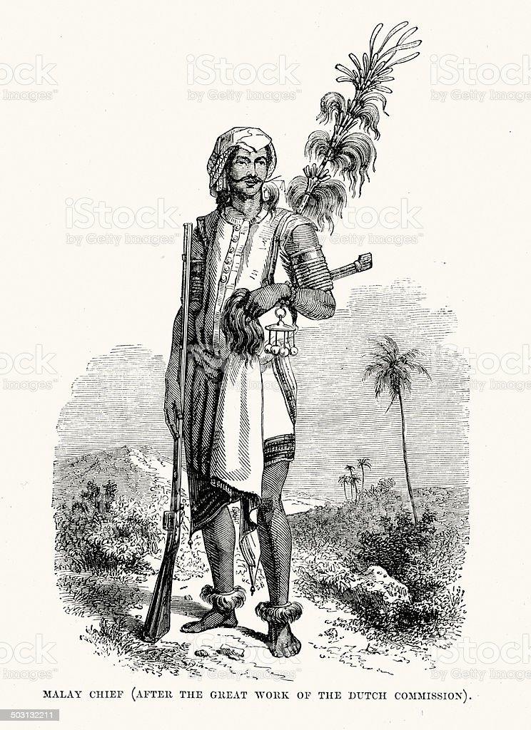Malay Chief royalty-free stock vector art